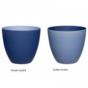 Hübsch Porcelánový svietnik Deep Blue - dva druhy Svetlomodrá