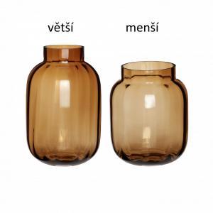 Hübsch Sklenená váza Amber Větší