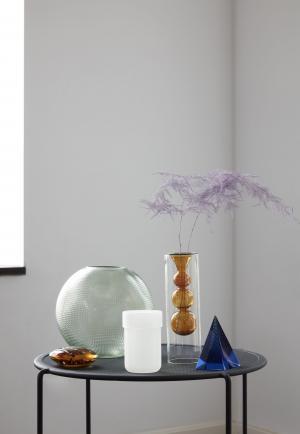 Hübsch Sklenená váza Dot Green Glass