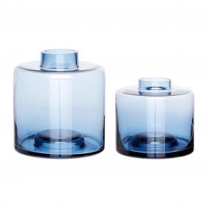 HÜBSCH váza sklo/modrá 280304, modrá