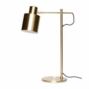 Hübsch Veľká stolná lampa Gold brass