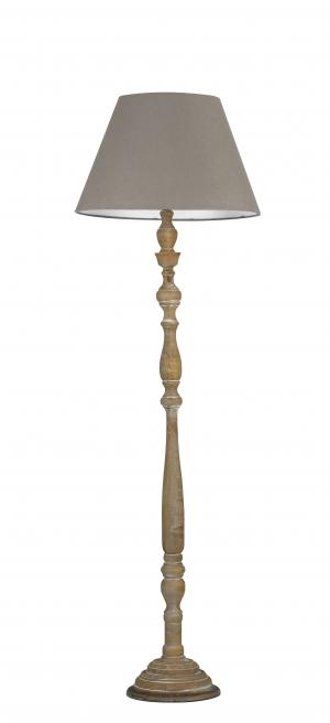 I-BOUTIQUE/PT stojací lampa 1xE27 dřevo a textil