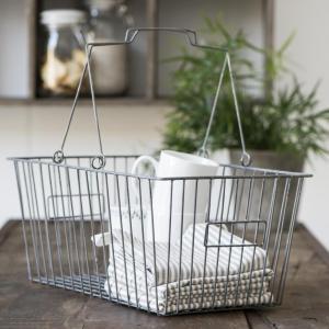 IB LAURSEN Kovový nákupný košík Silver