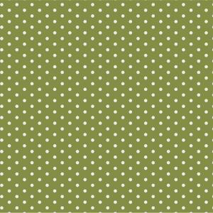 IB LAURSEN Papierové obrúsky Herbal Green Dots - 20 ks