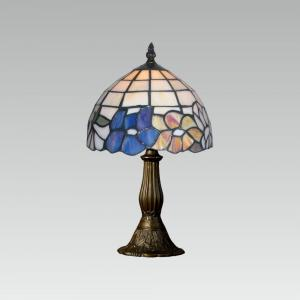 Interierové rustikálne svietidlo PREZENT TIFFANY antická hnedá 107