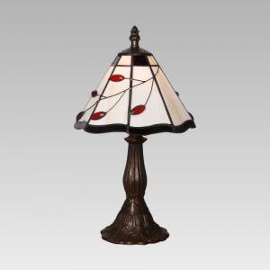 Interierové rustikálne svietidlo PREZENT TIFFANY antická hnedá  173