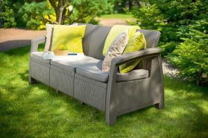 InternetovaZahrada - Záhradná lavica MODERN LOVE SEAT MAX - cappuccino