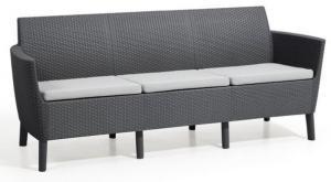 InternetovaZahrada - Záhradná lavica Salema 3 seater sofa - grafit