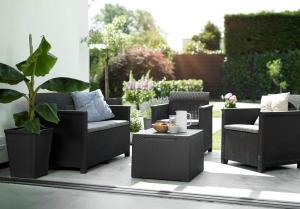 InternetovaZahrada - Záhradný set EMMA 2 seaters sofa - grafit