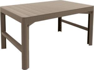 InternetovaZahrada - Záhradný stôl ULM ratan - cappuccino