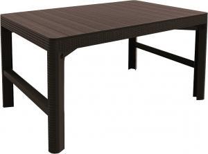 InternetovaZahrada - Záhradný stôl ULM rattan - hnedý