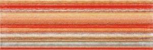 Inzert 60x20 Rako Tendence WITVE007 červeno-oranžový