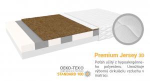 Jaamatrac Turner matrac s kokosvou vrstvou 200x100 Poťah: Premium Jersey 3D