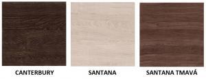 JAR Komoda Vegas V3 FARBA DVIEROK: Santana tmavá, FAREBNÉ PREVEDENIE KORPUSU: Santana