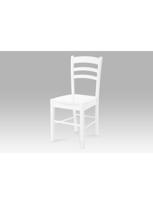 Jedálenská drevená stolička Albina, biela