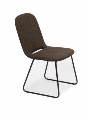 Jedálenská stolička ADLAN hnedá / čierná Tempo Kondela
