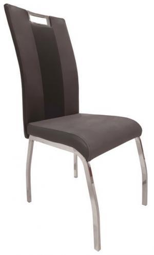 Jedálenská stolička Bari 2, šedá látka/čierna ekokoža