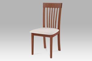 jedálenská stolička, čerešňa/látka béžová