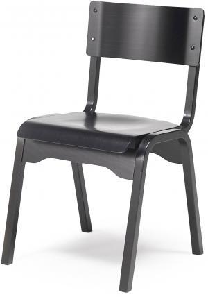 Jedálenská stolička Charlotte, čierna