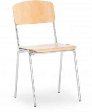 Jedálenská stolička Clinton, breza/chróm