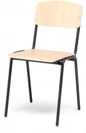 Jedálenská stolička Clinton, breza/čierna