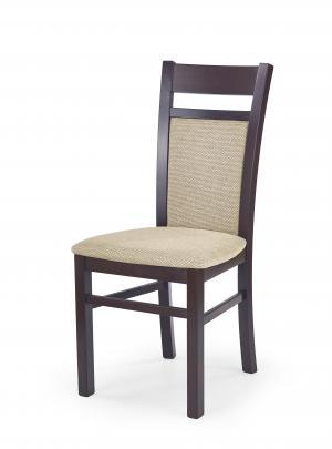 Jedálenská stolička - Halmar - Gerard 2 (orech tmavý + béžová). Sme autorizovaný predajca Halmar.