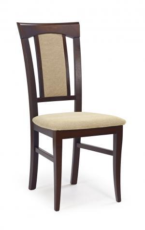 Jedálenská stolička - Halmar - Konrad Orech tmavý + béžová. Sme autorizovaný predajca Halmar.