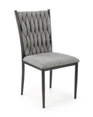 Jedálenská stolička K435 sivá / čierna Halmar