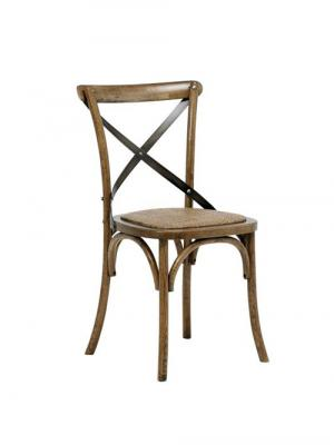 Jedálenská stolička s ratanovým sedadlom Harvest (SET 2 ks), antik