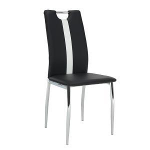 Jedálenská stolička Scotby (čierna + biela)