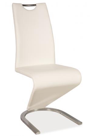 Jedálenská stolička - Signal - H-090 (ekokoža biela). Doprava ZDARMA. Sme autorizovaný predajca Signal.