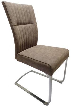Jedálenská stolička Sonata, hnedá vintage ekokoža