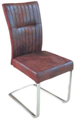 Jedálenská stolička Sonata, hnedá vintage látka