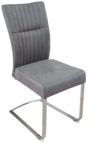 Jedálenská stolička Sonata, šedá vintage látka