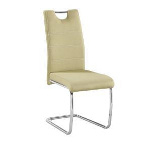 Jedálenská stolička Abalia New (zelená+ chróm)
