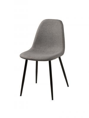 Jedálenská stolička Wanda (Súprava 4 ks), svetlosivá