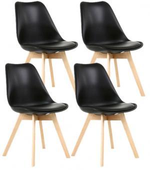 Jedálenské stoličky SCANDI čierne 4 ks - škandinávsky štýl