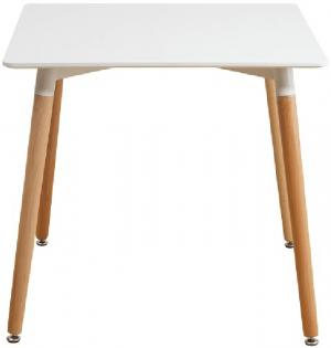 Jedálenský stôl 70x70 DIDIER NEW 2 biela / buk Tempo Kondela