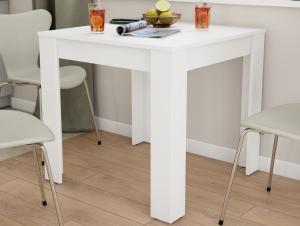 Jedálenský stôl David 80x80 cm, biely