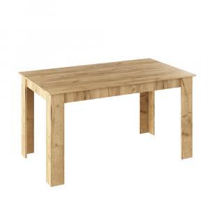 Jedálenský stôl, dub artisan, 140x80, GENERAL NEW