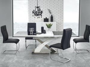 Jedálenský stôl - Halmar - Sandor 2 (čierna + biela) (pre 6 až 8 osôb). Akcia -7%. Doprava ZDARMA. Sme autorizovaný predajca Halmar.