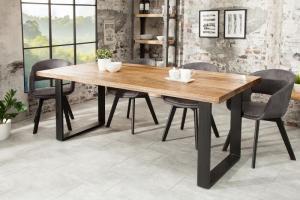 Jedálenský stôl Iron Craft 160cm natur Mango