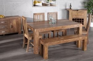 Jedálenský stôl Makassar 200cm z masívneho dreva sheesham