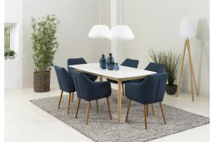 Jedálenský stôl Naiara 180 cm dub biely