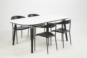 Jedálenský stôl Nicolina 180 cm biely laminát