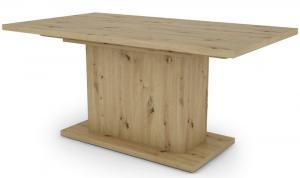 Jedálenský stôl Paulo 160x90 cm, dub artisan, rozkladací