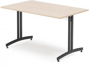 Jedálenský stôl Sanna, 1200x800 mm, breza / čierna