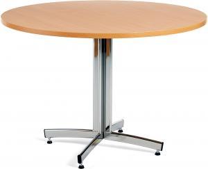 Jedálenský stôl Sanna, okrúhly Ø 1100 x V 720 mm, buk / chróm