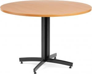 Jedálenský stôl Sanna, okrúhly Ø 1100 x V 720 mm, buk / čierna