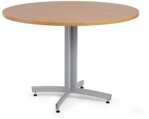 Jedálenský stôl Sanna, okrúhly Ø 1100 x V 720 mm, buk / sivá
